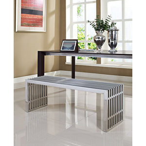 Gridiron Large Stainless Steel Bench (Medium Size Bench shown)
