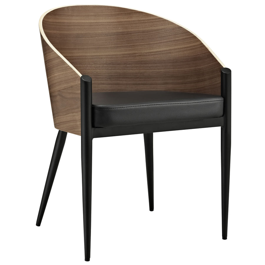Cooper Dining Wood Armchair in Walnut/Black