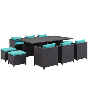 Reversal 11 Piece Outdoor Patio Dining Set