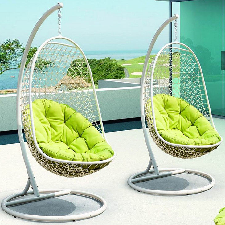 Encounter Swing Outdoor Patio Fabric Lounge Chair - taylor ray decor