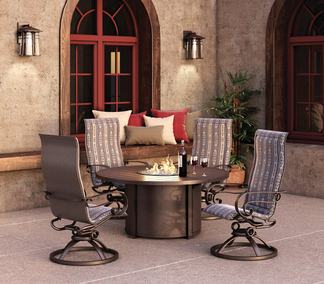 "Breeze 36"" Chat Fire Pit (Nova Aluminum Base) - taylor ray decor"