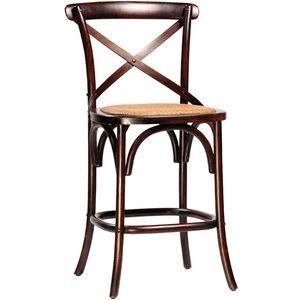 Gustave Counter Stool in Antiqued Brown - taylor ray decor