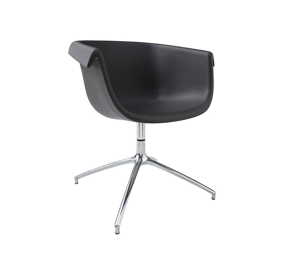 Collier Pedestal Swivel Base Guest Chair