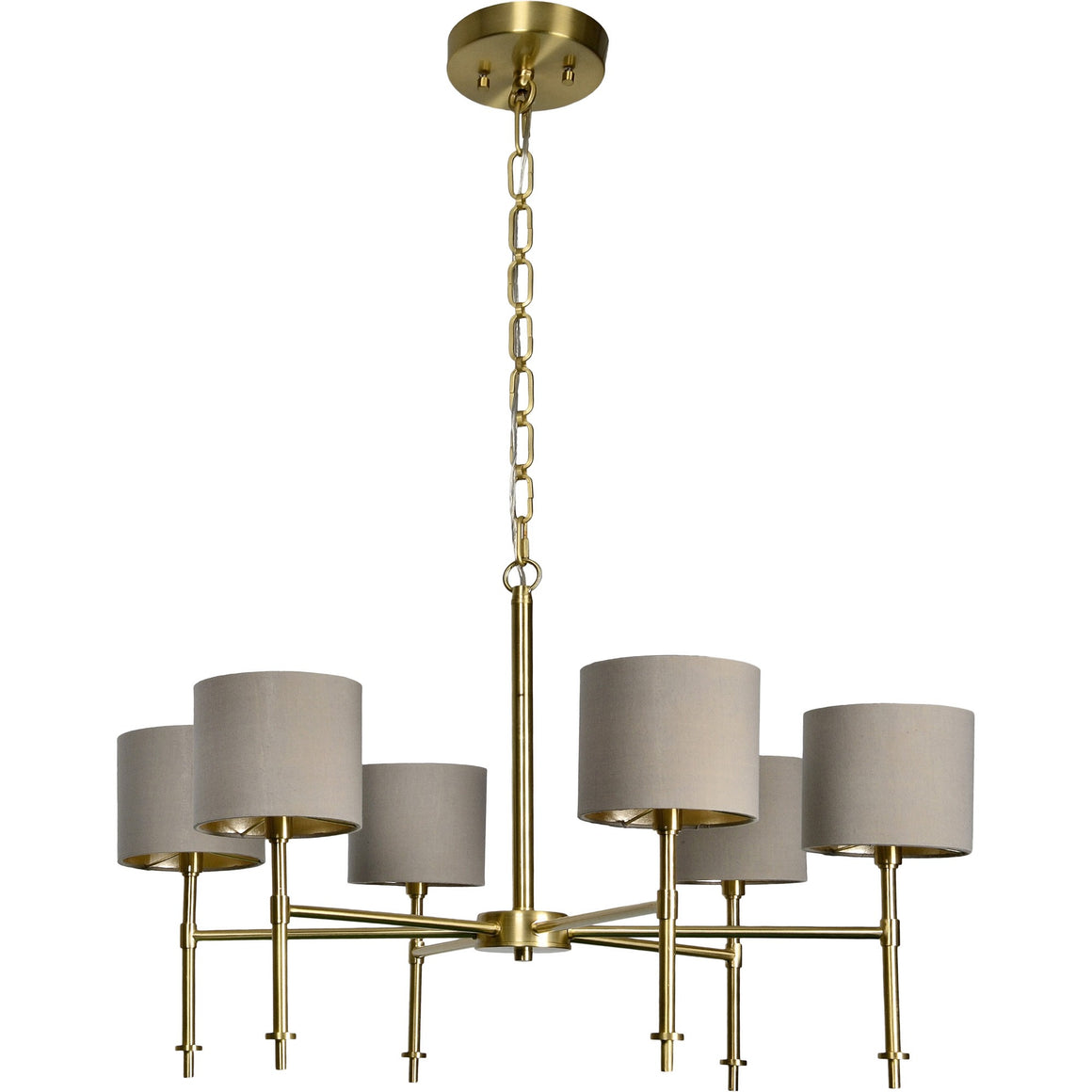 Bianci Satin Brass Chandelier