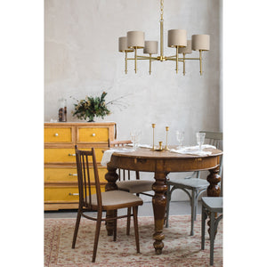 Bianci Satin Brass Chandelier - taylor ray decor