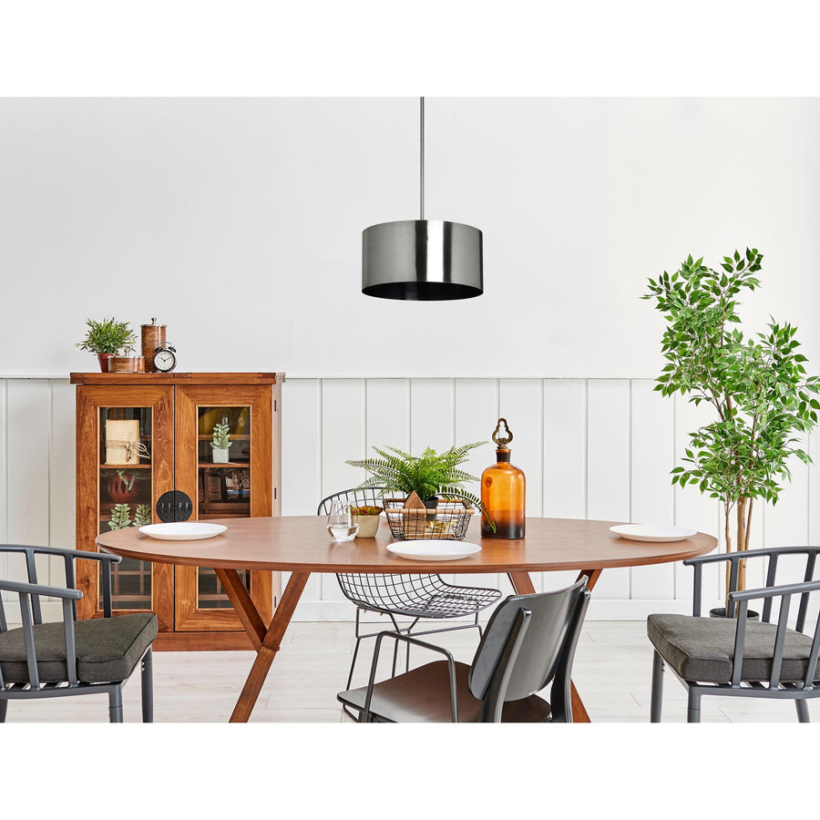 Gloria Brushed Iron Light Pendant - taylor ray decor
