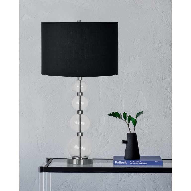Verde Clear Glass Table Lamp - taylor ray decor