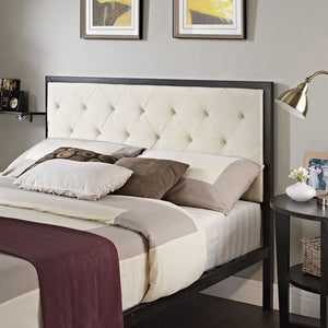 Mia King Fabric Bed
