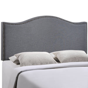 Curl Queen Nailhead Upholstered Headboard - taylor ray decor