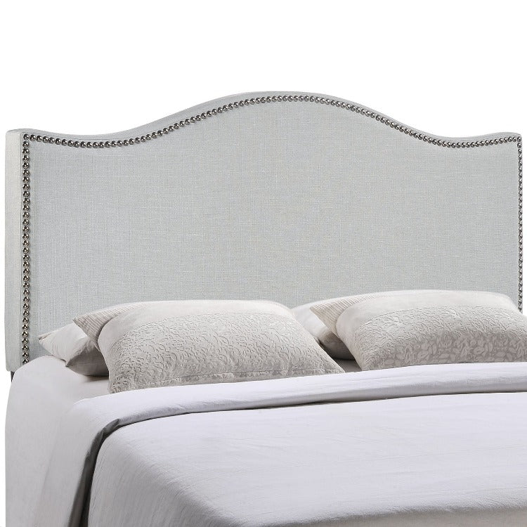 Curl King Nailhead Upholstered Headboard - taylor ray decor