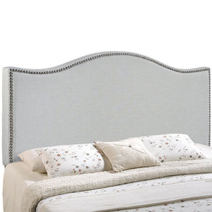 Curl King Nailhead Upholstered Headboard