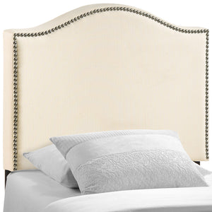 Curl Twin Nailhead Upholstered Headboard