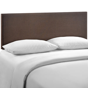 Region Queen Upholstered Headboard in Dark Brown