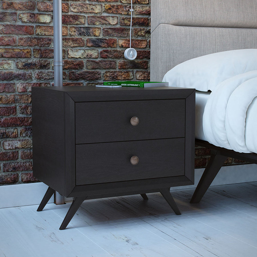 Tracy Modern Nightstand in Black