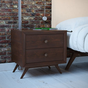Tracy Modern Nightstand in Cappuccino