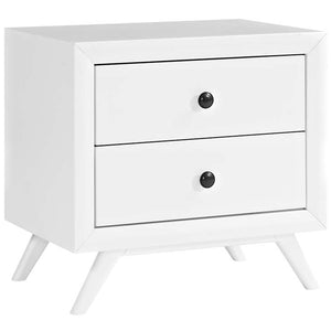 Tracy Modern Nightstand in White