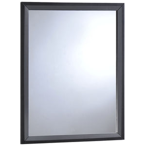 Tracy Modern Wood Mirror in Black