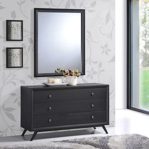Tracy Mid-Century Modern Dresser and Mirror Set