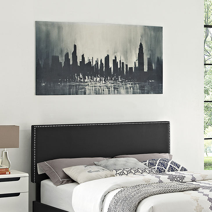 Phoebe Queen Vinyl Headboard