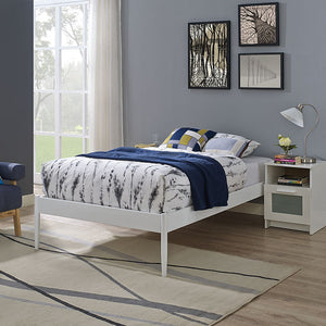 Elsie Twin Steel Bed Frame in White