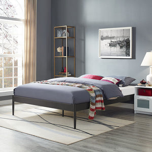 Elsie Queen Steel Bed Frame in Brown