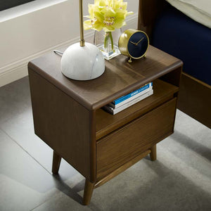 Talwyn Modern Wood Nightstand / End Table