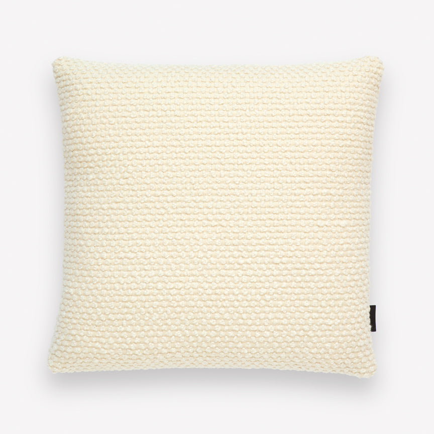 Huddle Wool & Cotton Pillow in Custard