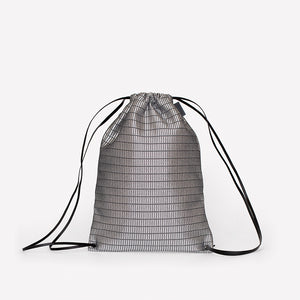 Versatile Cinch Bag in Mechanism Polyester Three-Dimensional Knit