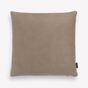 Loam Leather Pillow in Flagstone