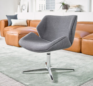 Skara Mid-Back Swivel Lounge with return-to-center base