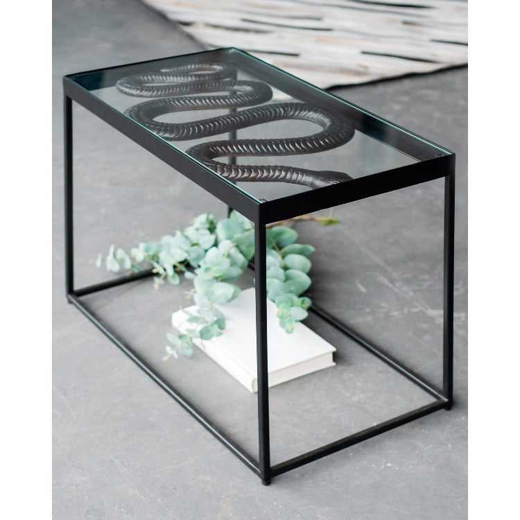 Chie Iron Serpent Accent Table - taylor ray decor