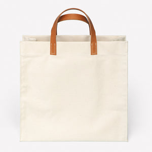 Amsterdam Cotton Canvas Bag in Natural Saddle