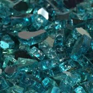 Caribbean Blue Fire Glass
