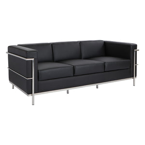 Bonded Leather Modern Sofa - taylor ray decor