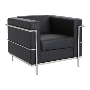 Bonded Leather Modern Lounge Chair