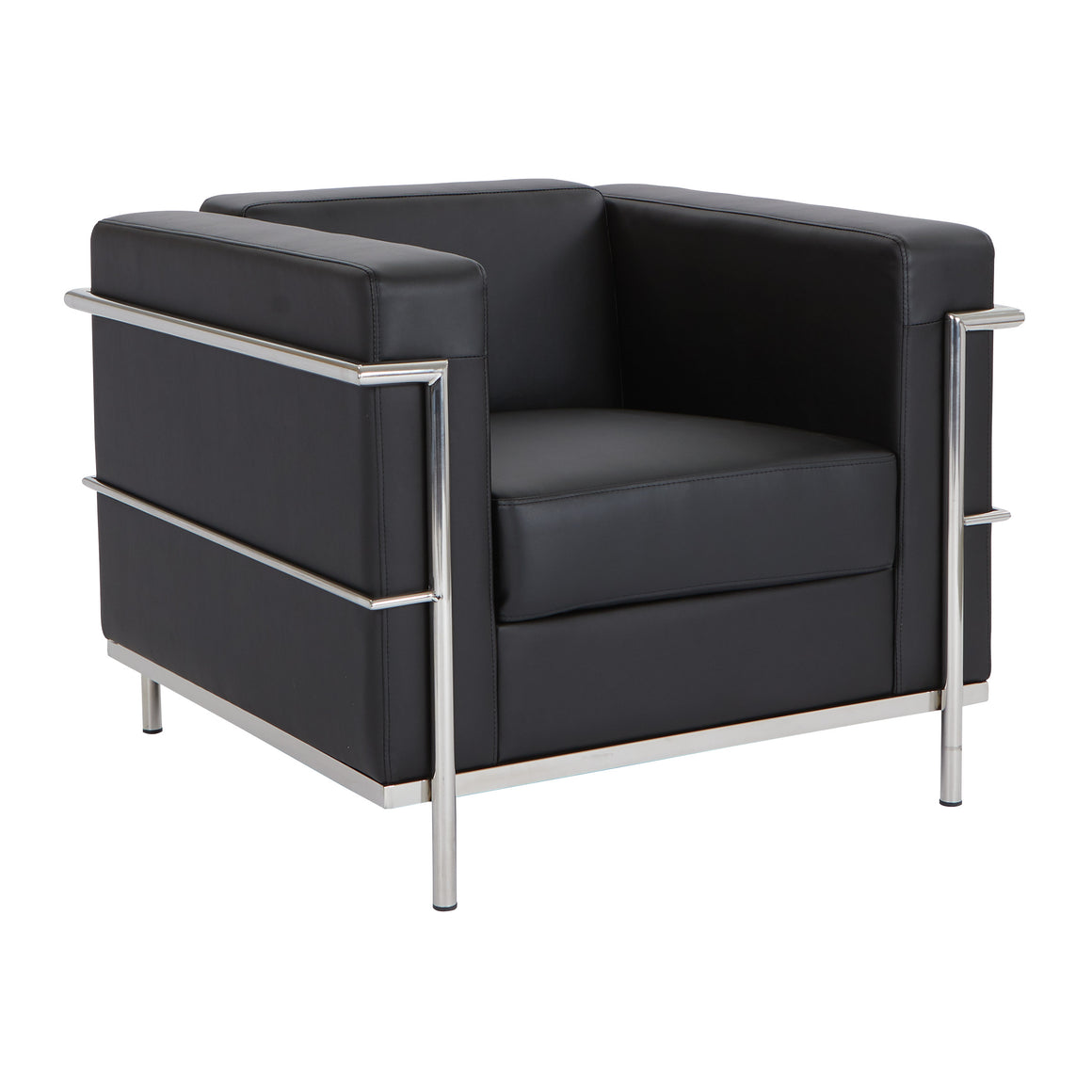 Bonded Leather Modern Lounge Chair - taylor ray decor