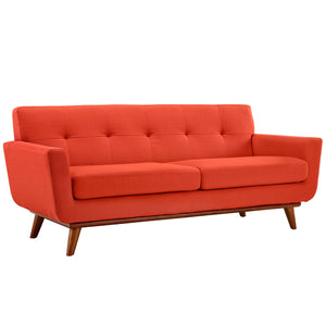 Engage Mid-Century Modern Fabric Loveseat - taylor ray decor