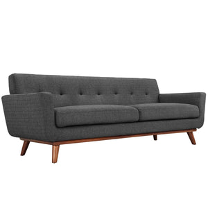 Engage Mid-Century Modern Fabric Sofa