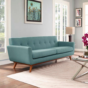 Engage Mid-Century Modern Fabric Sofa in Laguna