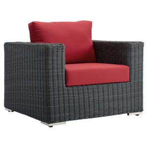 Summon Outdoor Patio Sunbrella Fabric Armchair - taylor ray decor