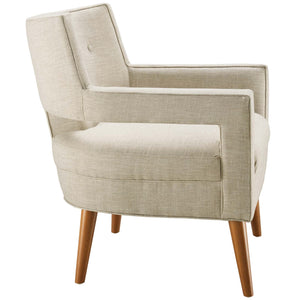 Sheer Mid-Century Modern Fabric Armchair