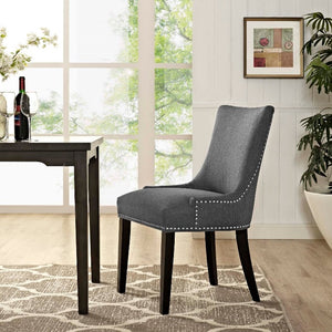 Marquis Fabric Dining Chair in Gray