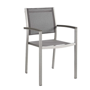 Shore Outdoor Patio Mesh Dining Armchair / Set of 2