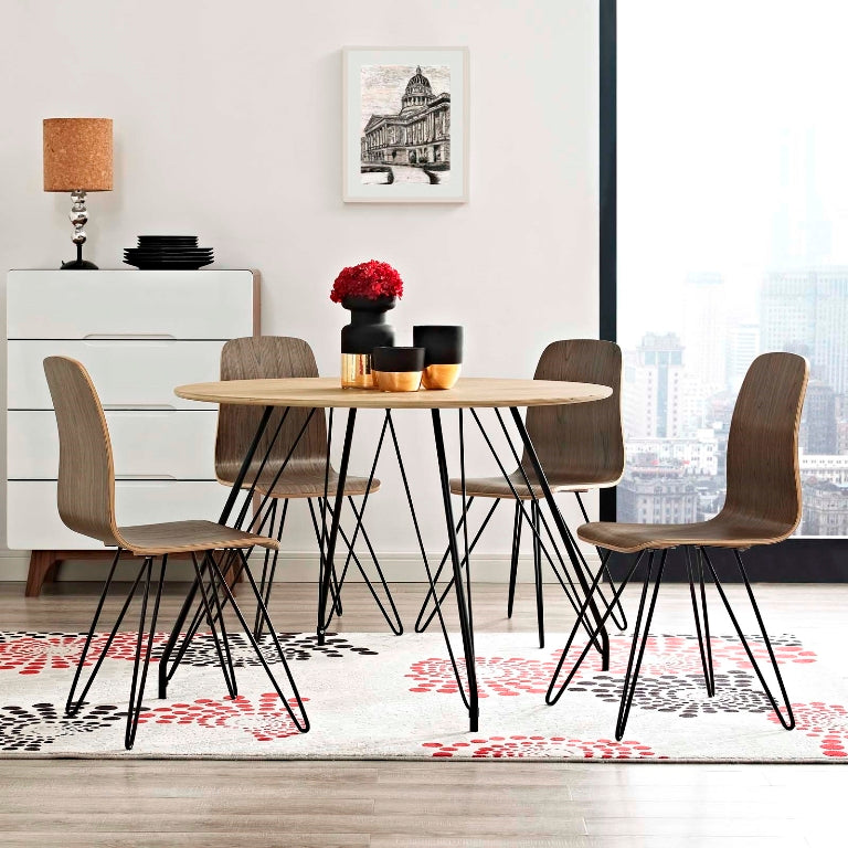 Satellite Circular Modern Wood Dining Table - taylor ray decor