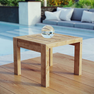 Upland Outdoor Patio Teak Side Table