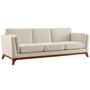 Chance Contemporary Upholstered Fabric Sofa in Beige