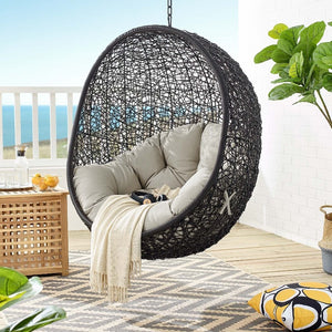 Encase Outdoor Patio Swing Chair Without Stand in Beige