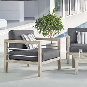 Wiscasset Outdoor Patio Acacia Wood Armchair