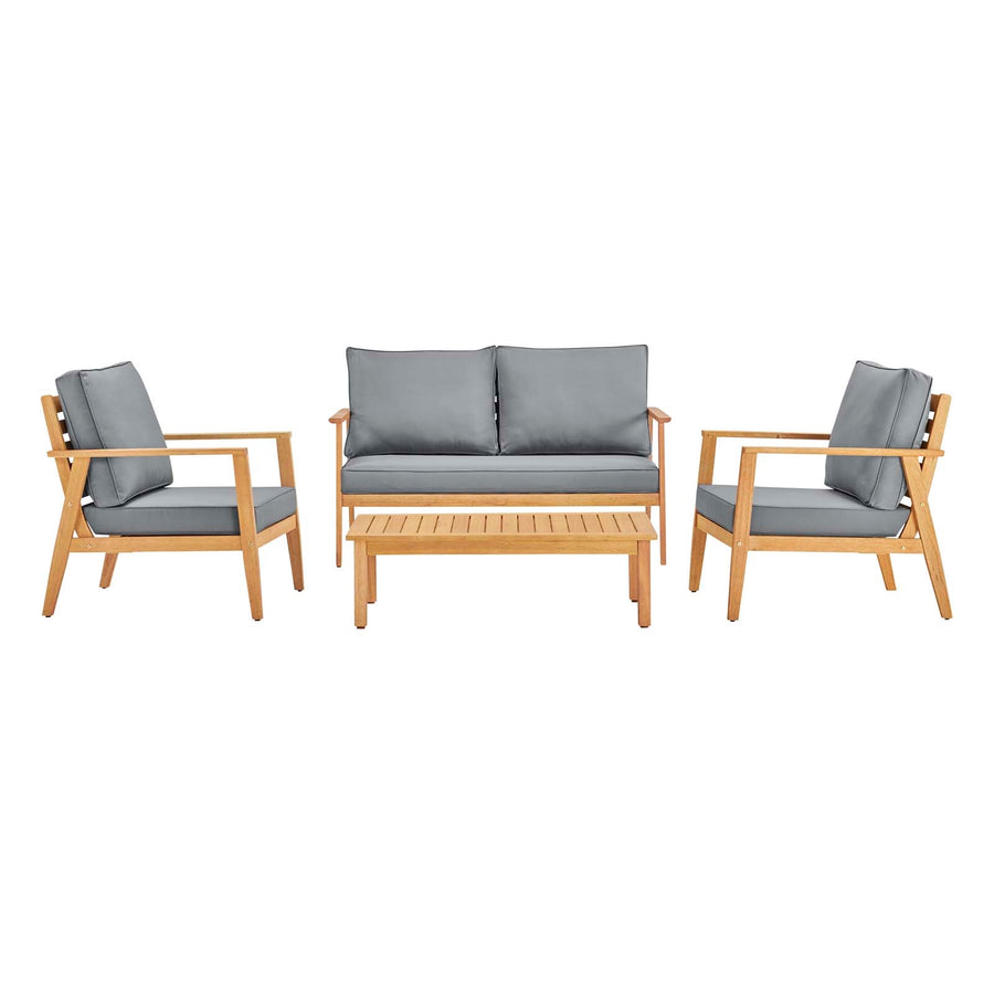 Syracuse 4 Piece Upholstered Outdoor Patio Set - taylor ray decor