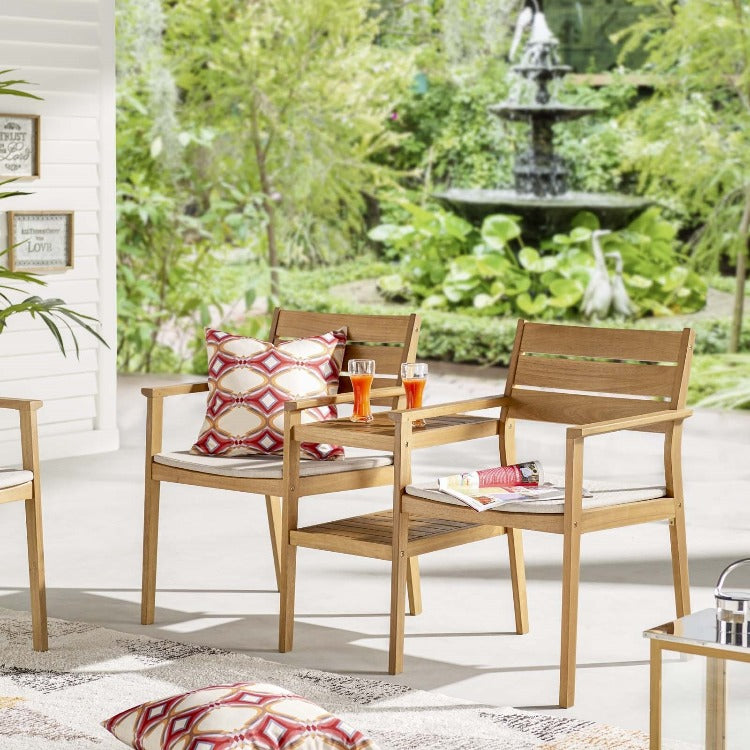 Viewscape Outdoor Patio Jack and Jill Chair Set - taylor ray decor